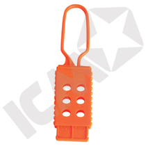 Non conductive lockout hasp, orange