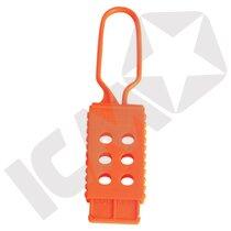 Non conductive lockout hasp, orange