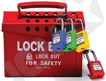 Group lock out box red