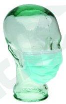 Mundbind 18 cm, blå 3-lag m/elastik, 50 stk