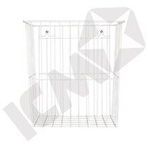 Trådkurv, hvid, H40 x B34 x D23 cm