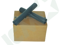 Affaldssække, dobbeltsvejst plast, sort, 55 my