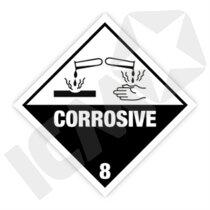 132309MF Corrosive kl. 8 fareseddel  250x250mm