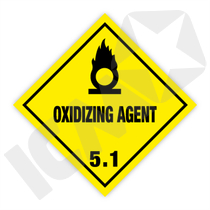 132302 Oxidizing agent kl. 5.1 fareseddel  250x250mm