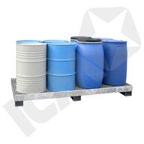 Lacont Opsamlingskar galvaniseret 200 L 8 tromler