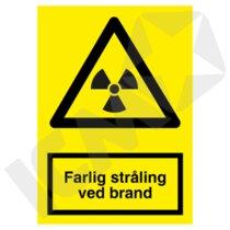 A312PA4 Farlig stråling ved brand  A4
