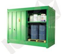 Miljøcontainer i Stål til Udendørs Brug 4 Tromler