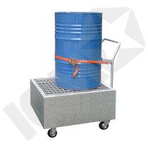 Lacont Galvaniseret Stål Kar med Hjul & Galvaniseret Rist 1 Tromle