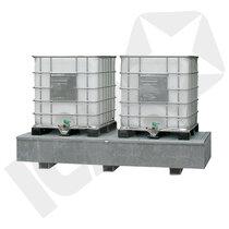 Lacont Opsamlingskar Galvaniseret Stål til 2 IBC Tanke