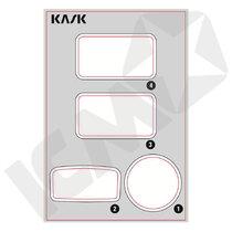 KASK Transparante Stickers til Zenith