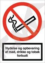 A Mad, drikke og tobak forbudt A4