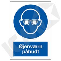 P202VA4 Øjenværn påbudt  A4