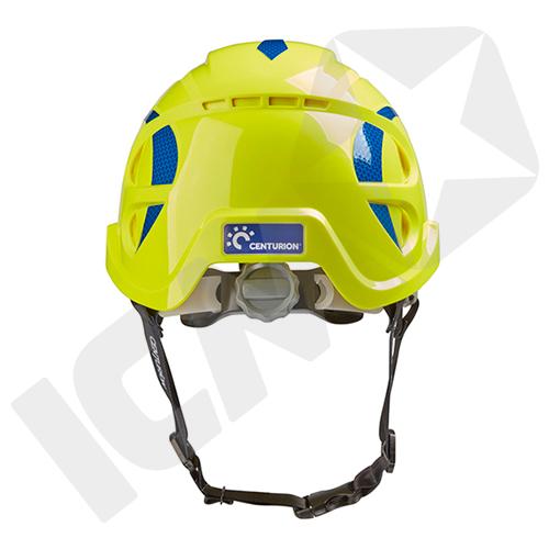 Centurion Nexus SecurePlus Hjelm med Håndhjul uden Ventilation Hi-Viz